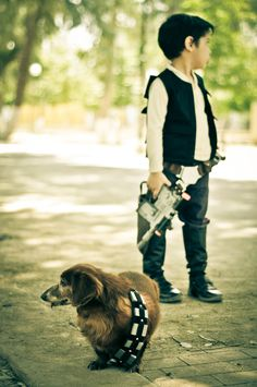 Chewbacca & Han Solo, Star Wars, photo by Cuije Photo. OMG, too adorable!