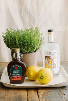 RECIPE: Maple Thyme Sour
