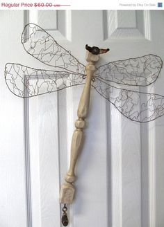 ON SALE Table Leg Dragonfly Wall or Garden by LucyDesignsonline, $55.00