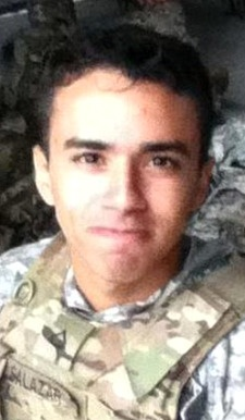 Army Pfc. Brenden N. Salazar, 20, of Chuluota, Florida. Died July 22, 2012, serving during Operation Enduring Freedom. Assigned to 1st Battalion, 503rd Infantry Regiment, 173rd Airborne Brigade Combat Team, Caserma Ederle, Italy. Died in Pul-E Alam, Logar Province, Afghanistan, when enemy forces attacked his unit with an improvised explosive device.
