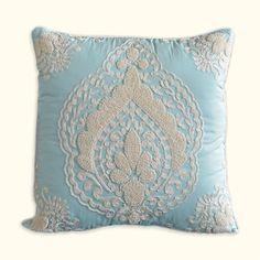 Nectar Embroidered Decorative Pillow - Square   Nostalgia Home Fashions, Inc