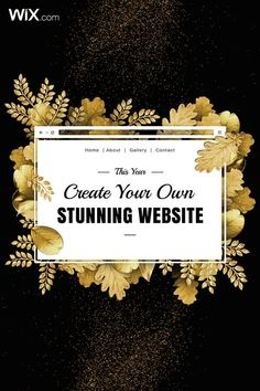 Start your year off strong by creating your own beautiful website. It's easy and free!