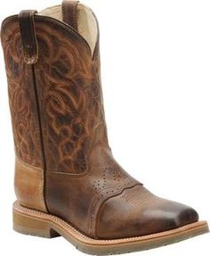 Double H Mens DH3567 Square Steel Toe Roper Boot (8 2E US, Oldtown Folklore) Double H Boot. $184.95
