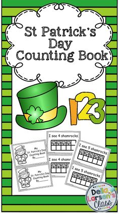 St. Patrick's Day take home book. This is the perfect addition to your math centers. Give your kids extra practice using ten frames. Great for morning work, or fast finishers. You'll be glad you have this Go To book. Only $1