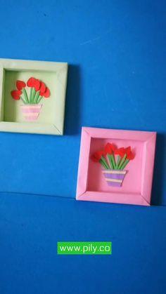 Diy Gifts Paper, Cool Paper Crafts, Paper Crafts Origami, Diy Crafts For Gifts, Origami Paper, Creative Crafts, Diy Paper, Unicorn Crafts, Paper Doll House