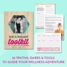 eBook Design by Raspberry Stripes: She Is Radiant Toolkit by Claire Baker