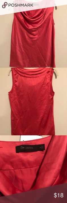 The Limited sleeveless cowl neck blouse Coral sleeveless blouse by The Limited. Size S. Cowl neck. So pretty!! Tops Blouses