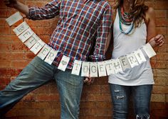 Better Together Paper Garland - Love it in this wonderful engagement photo shoot by Tim Brown of TAB Photographic.