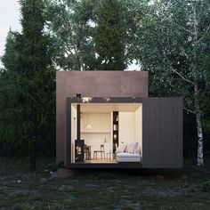 Garden Pods, Japanese Architecture, Red River, Prefab Homes, Decoration, Bungalow, Minimalism, Tiny Houses, House Design