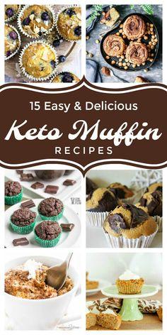 Low carb keto muffin recipes to enjoy with coffee or tea. #lowcarb #keto #ketorecipe