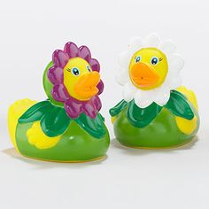 Add these Sweet and Fun Daisy Petal Rubber Ducks to your little one's Easter Basket! Adorable set of 2!