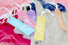 Free Weekday Hanger
