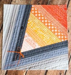 Strip quilting with scraps often results in unexpectedly beautiful projects, like this Scrappy Denim Kite Quilt Block.