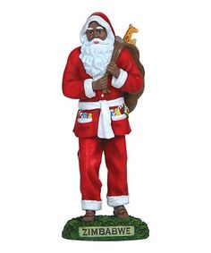 Meticulously handcrafted with a highly detailed design, this one-of-a-kind figurine brings the spirit of Christmas to life. Santa Figurines, Willow Tree, Father Christmas, Zimbabwe, Ronald Mcdonald, Precious Moments, Future, Ideas, Decor