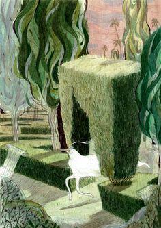 The Garden Maze on Behance Art And Illustration, Illustrations And Posters, Maze, Oeuvre D'art, Art Inspo, Art Sketches, Illustrators, Cool Art, Concept Art