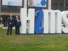 Jim Wallace and Rick Taylor at the 2014 Himss expo in Orlando, Florida.