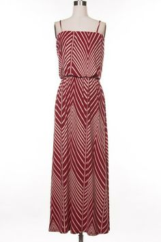 Kelly's Closet Boutique I Chevron Maxi Dress