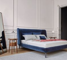 Buy Ligne Roset Desdemone Bed from our exclusive range of modern furniture and lighting at Chaplins. Showcasing the very best in contemporary design. Cama Design, Design Ikea, Bed Design, Ligne Roset, Stylish Bedroom, Modern Bedroom, Modern Beds, Bedroom Furniture, Bedroom Decor