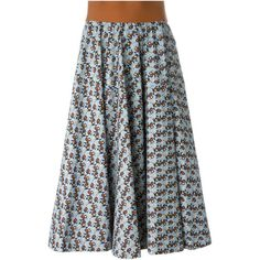 Marni Floral Print Skirt (10.815 DKK) ❤ liked on Polyvore featuring skirts, blue, blue floral skirt, pleated skirt, knee length pleated skirt, high waisted pleated skirt and flower print skirt