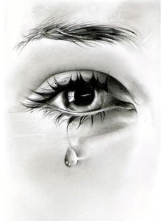 60 beautiful and realistic pencil drawings of eyes Crying Eye Drawing, Eye Pencil Drawing, Cry Drawing, Realistic Pencil Drawings, Pencil Art Drawings, Woman Drawing, Art Drawings Sketches, Cool Drawings, Tears Art
