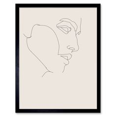 Line Drawing Faces Man Minimalist Artwork Framed Wall Art Print Inch Male Face Drawing, Guy Drawing, Drawing Faces, Art Drawings, Drawing Portraits, Abstract Portrait Painting, Abstract Face Art, Portrait Paintings, Acrylic Paintings