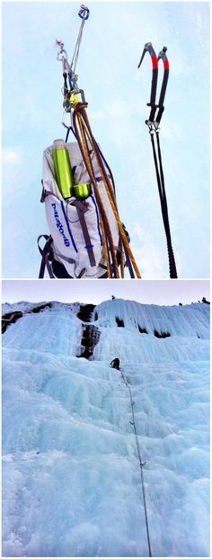 Ice climbing the frozen waterfalls in the Canadian Rockies entails a fair bit of sophisticated gear to allow climbers to ascend these vertical curtains of ice. ACMG guide Tim McAllister sent us these shots of a climb called the Weeping Wall, including one taken at the top of a rope length where a restorative hot drink courtesy of an Innate vacuum flask came in mighty handy.    #godoyourday #itsdopeyo #ice #climbing