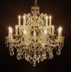 Antique Chandeliers | 16 light silver italian crystal chandelier 28 tall and 28 wide 16 ...