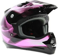 ac2ab82f CLEARANCE Adult Motocross Helmet DOT ATV UTV Dirt Bike Off Road Black Pink  | eBay