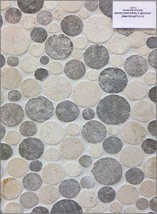 Random Round Biancone Perla Mosaic Backsplash Tiles