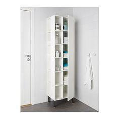 IKEA - LILLÅNGEN, Élt haut 1pte/2étagères finition, blanc, , Ce meuble peu profond est idéal si l'espace est restreint.