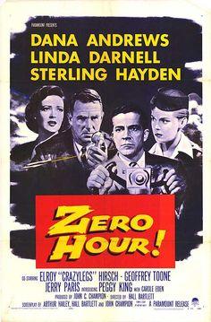 Dana Andrews, Linda Darnell and Sterling Hayden - Zero Hour! 1957
