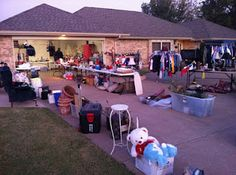 Garage Sale tips - 1/2 off after certain time on last day.