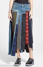 2014 NEW $2,000 Junya Watanabe patchwork denim skirt pant M
