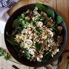 Mushroom and Spinach Cauliflower Pilau