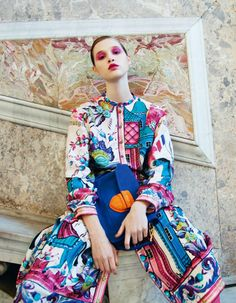 """anais pouliot in """"naples"""" for grey magazine s/s 2011 photographed by peppe tortora"""