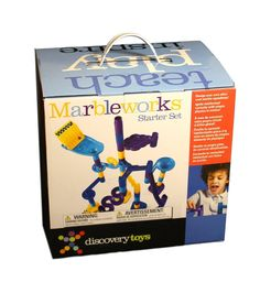 MARBLEWORKSÂ Marble Run Starter Set by Discovery Toys *** Check this awesome product by going to the link at the image. (This is an affiliate link) Lego Party Decorations, Discovery Toys, Building Blocks Toys, Starter Set, 5 Year Olds, Toy Chest, Kids Toys, Childhood, Marble