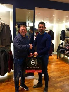 Philip has big win with Tommy Bowe! Pictured is Philip Osborne receiving his prize from staff member Mark Cunningham after winning our recent Tommy Bowe jacket competition!! Well done Philip!! There's a rumour Philip's son already has the jacket in his wardrobe!! Sharing is caring lads!