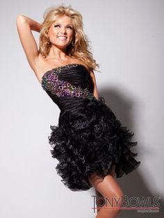 Tony Bowls Shorts Dress TS11385B at Prom Dress Shop