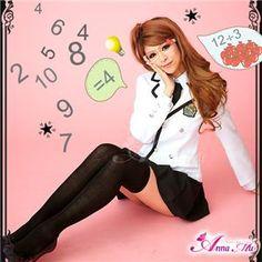 コスプレ 2012年新作 白ブレザーのキュート女子高生制服 コスチューム/z909/衣装 - 拡大画像