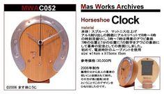 木工作品集047 Woodcraft works portfolio 047 #オーダーメイド木の時計 #蹄鉄 #OrdermadeWoodenClock #horseshoe http://ift.tt/1Nq0R26