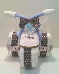 MuyAmeno.com: Decoración con Pañales para Baby Shower Niños