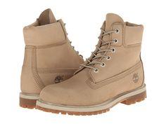 "Timberland 6"" Premium Boot Off White Nubuck - Zappos.com Free Shipping BOTH Ways"
