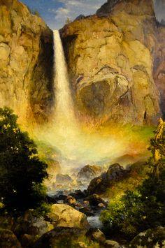 Thomas Moran - Bridalveil Falls, Yosemite Valley, 1904 at the Virginia Museum of Fine Arts (VMFA) Richmond VA