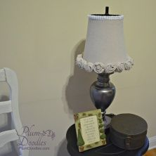 Lamp makeover with trash can lamp shade lamp makeover fabric diy a lamp shade from wire trash can wire mesh trash can is covered with drop cloth fabric keyboard keysfo Choice Image