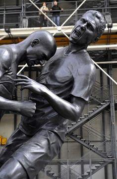 Zidane headbutt statue unveiled in Paris