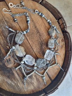 Rough & Tumble Glitz Necklace  Statement Jewelry  by YaYJewelry, $110.00