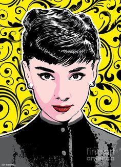 Audrey Hepburn Pop Art Digital Art