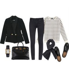 ... by tomorrowsparties on Polyvore featuring Balmain, Tory Burch, Church's, Hermès and A.P.C.