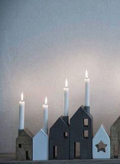 Beautiful house candle holders. Hjärterum