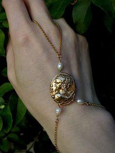 Aphrodite Slave Bracelet by VisaVisJewelryLA on Etsy,